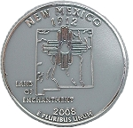 New Mexico State Quarter Fridge Magnet
