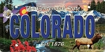 Colorado The Centennial State License Plate Souvenir Fridge Magnet