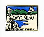 Wyoming 4 Color Fridge Magnet