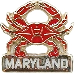 Maryland Blue Crab Hat Tac or Lapel Pin