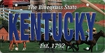 Kentucky The Bluegrass State License Plate Souvenir Fridge Magnet