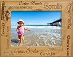 Outer Banks OBX North Carolina Laser Engraved Wood Picture Frame