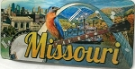 Missouri The Show Me State 3D Fridge Magnet