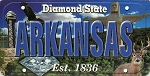 Arkansas The Diamond State License Plate Souvenir Fridge Magnet