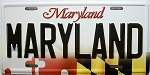 Maryland State License Plate Novelty Fridge Magnet