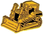 Construction Bulldozer Fridge Magnet