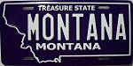 Montana State License Plate Novelty Fridge Magnet
