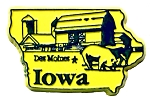 Iowa Des Moines Fridge Magnet