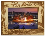 Branson Missouri with Guitar Laser Engraved Wood Picture Frame