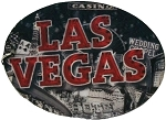 Las Vegas Montage Double Sided Oval 3D Key Chain