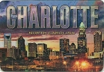 Charlotte North Carolina 3D Fridge Magnet