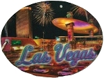 Las Vegas Fashion Show Double Sided Oval 3D Key Chain