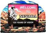 Nevada State Welcome Sign Artwood Fridge Magnet