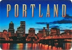 Portland Oregon 3D Fridge Magnet