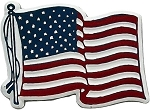 American Flag Fridge Magnet