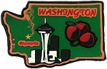 Washington Multi Color Fridge Magnet