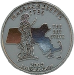 Massachusetts State Quarter Fridge Magnet