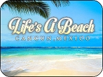 Cancun Mexico Life's a Beach Photo Fridge Magnet with Ocean