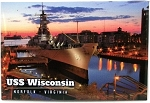 USS Wisconsin Norfolk Virginia Metal Fridge Magnet