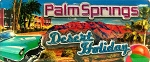 Palm Springs California Desert Holiday Foil Panoramic Fridge Magnet