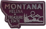 Montana the Treasure State Souvenir Fridge Magnet