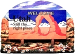 Utah State Welcome Sign Artwood Fridge Magnet