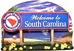 South Carolina State Welcome Sign Artwood Fridge Magnet