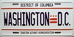 Washington D.C. License Plate Novelty Fridge Magnet