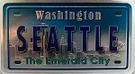 Seattle Washington Foil Panoramic Dual Sided Fridge Magnet