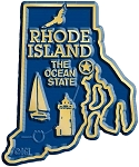 Rhode Island the Ocean State Map Fridge Magnet