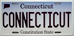 Connecticut State License Plate Fridge Magnet