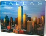 Dallas Texas Skyline Montage 3D Postcard