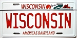 Wisconsin State License Plate Fridge Magnet