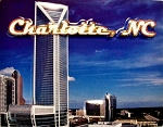 Charlotte North Carolina Fridge Magnet