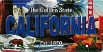 California The Golden State License Plate Souvenir Fridge Magnet