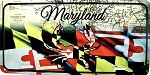 Maryland Flag Design with Crab License Plate