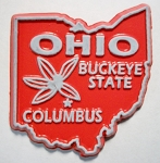 Ohio State Outline Fridge Magnet Design 10