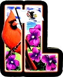 Illinois The Prairie State Artwood Initial Fridge Magnet