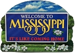 Mississippi State Welcome Sign Artwood Fridge Magnet