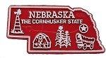 Nebraska The Cornhusker State Map Fridge Magnet