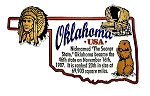 Oklahoma State Outline Montage Fridge Magnet