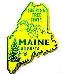 Maine The Pine Tree State Souvenir Fridge Magnet