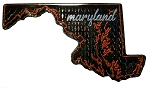 Maryland Foil Design Fridge Magnet