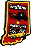 Indiana Indianapolis Multi Color Fridge Magnet