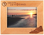 Hilton Head Island South Carolina Laser Engraved Wood Picture Frame