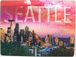 Seattle Washington with Space Needle 3D Postcard