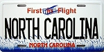 North Carolina License Plate Novelty Fridge Magnet