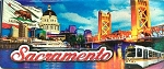 Sacramento California Foil Panoramic Fridge Magnet