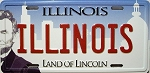 Illinois License Plate Fridge Magnet