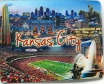 Kansas City 3D Fridge Magnet